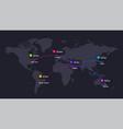 world map neumorphic chart infographic vector image