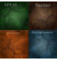 4 Blurred Backgrounds vector image