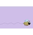 Bee flight background vector image