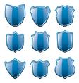 blue shields vector image