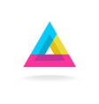 Colorful triangle logo vector image