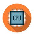 Processor icon flat vector image