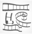 3d film reel strip set vector image vector image