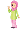 A female Muslim vector image