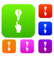 a finger pointer and light bulb set collection vector image vector image