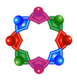 abstract colorful atomic molecular team vector image