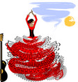 abstract image of flamenco girl vector image vector image
