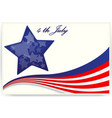 American flag for Business cards with ribbon vector image vector image