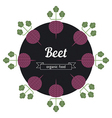 Beet vegetables vector image vector image