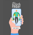 black friday concept flat design sale vector image