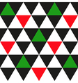 Black White Red Green Triangle Background vector image