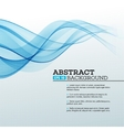 Blue Abstract waves background vector image vector image