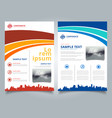 brochure template blue and red curve line graphic vector image vector image