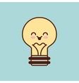 Bulb character kawaii style