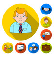 business conference and negotiations flat icons in vector image vector image