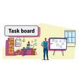 businessman planning weekly meeting schedule on vector image vector image
