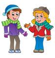 cartoon kids theme image 1 vector image vector image
