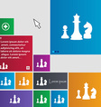 chess Game icon sign buttons Modern interface vector image