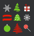 Chistmas objects vector image vector image