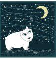 Christmas polar bear frame vector image
