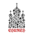 church icon religion christianity cross symbols vector image