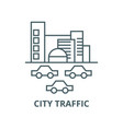 citytraffic cars line icon citytraffic vector image