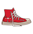 classic urban shoe kawaii cute cartoon vector image