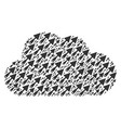 cloud composition of trowel icons vector image vector image