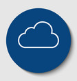 cloud sign white contour vector image vector image