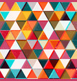 colored triangles seamless pattern vector image vector image