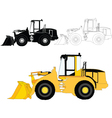 construction machine vector image vector image