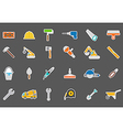 construction stickers set vector image vector image
