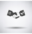 Ecological handshakes icon vector image vector image