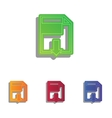 File download sign Colorfull applique icons set vector image