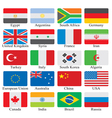 Flags set vector | Price: 1 Credit (USD $1)