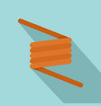 flexible spring cable icon flat style vector image vector image
