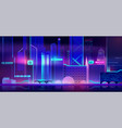 futuristic city background with neon illumination vector image vector image