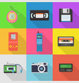 gadgets 90s icon set vector image