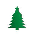 green christmas tree on the white background vector image