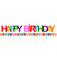 happy birthday with people banner vector image vector image
