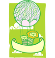 Happy Lion Balloon Banner vector image vector image