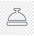 hotel bell concept linear icon isolated on vector image