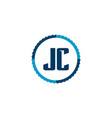 initial letter logo jc template design vector image
