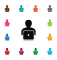 isolated working icon laptop element can vector image vector image