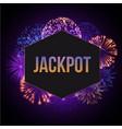 jackpot advertisement template banner vector image