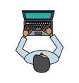 laptop computer icon imag vector image vector image