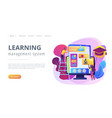 learning management system concept landing page vector image vector image