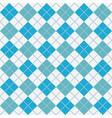 light blue argyle harlequin seamless pattern vector image vector image