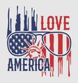love america vector image vector image