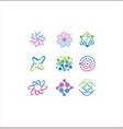 molecular atom neutron laboratory icon vector image vector image
